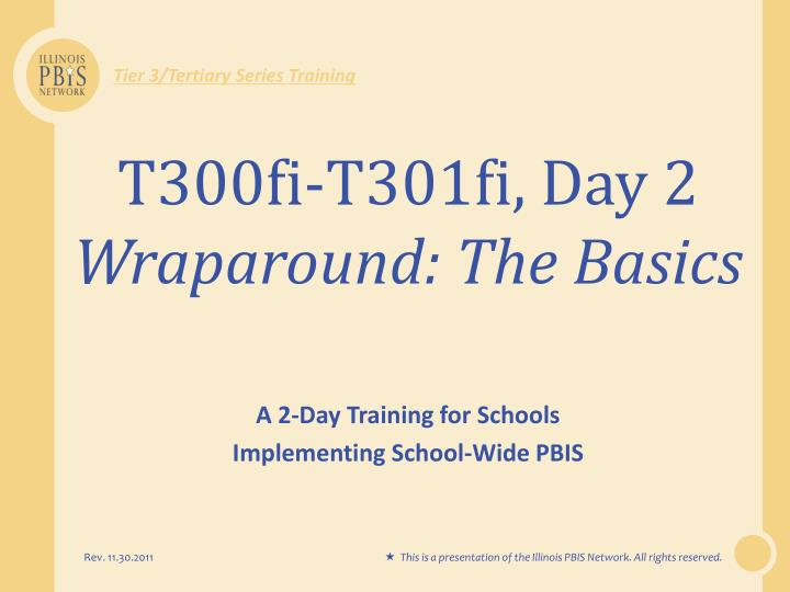 Tier 3/Tertiary Series Training