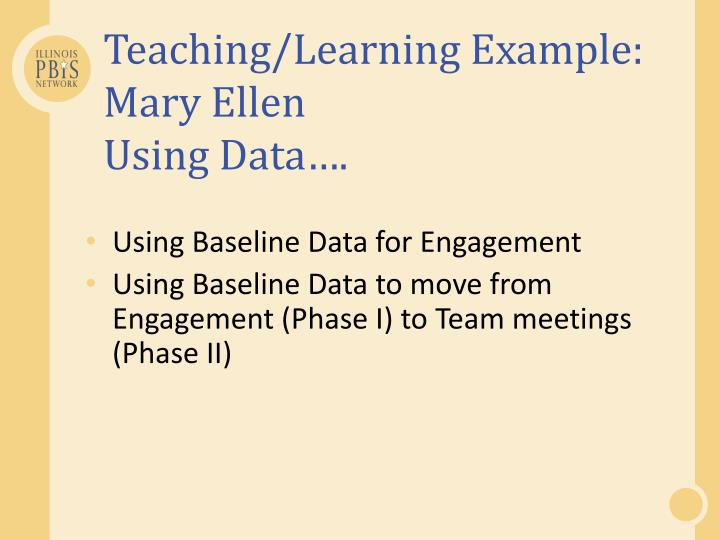 Teaching/Learning Example: