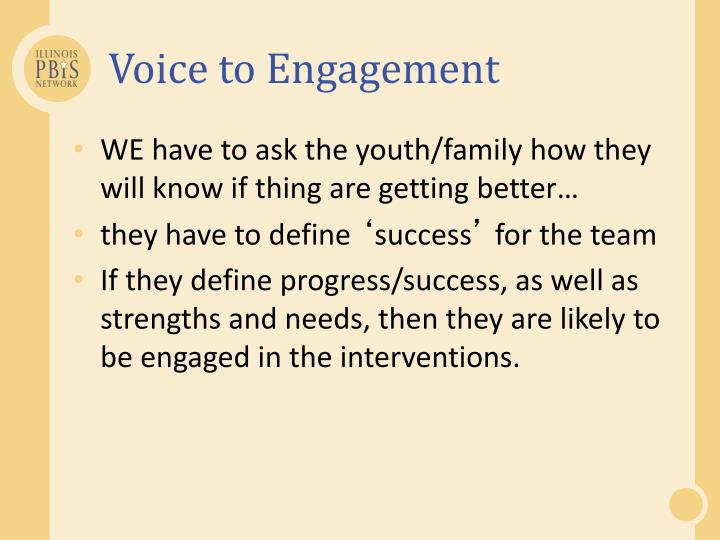 Voice to Engagement