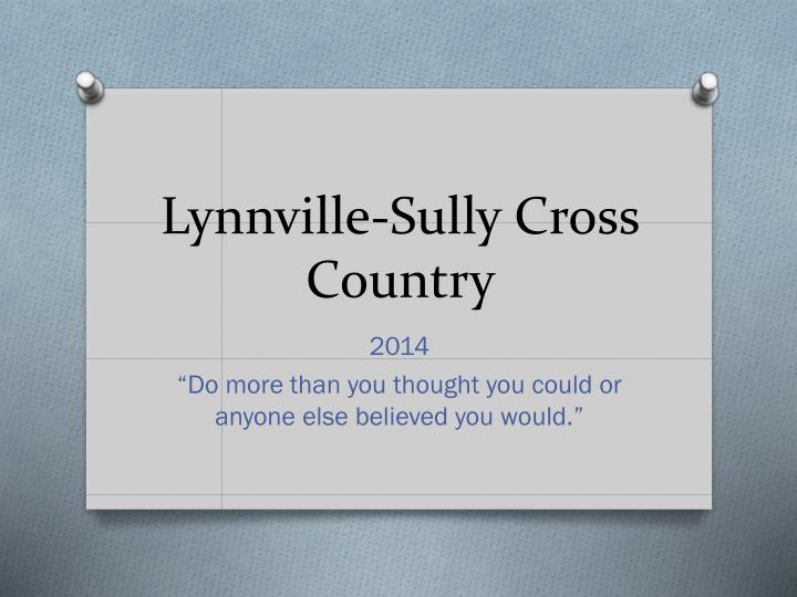 lynnville sully cross country n.