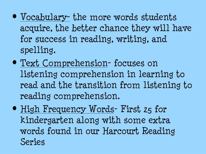 Vocabulary-