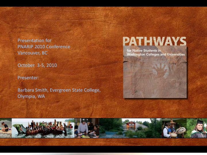 pathways for native students a report on washington state colleges and universities n.