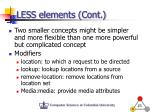 less elements cont2