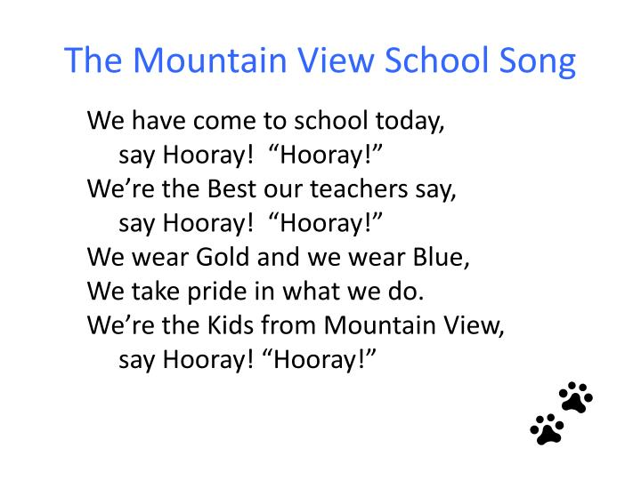 the mountain view school song n.