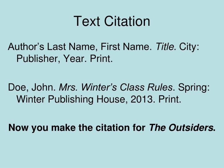 Text Citation