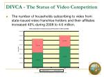 divca the status of video competition