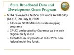 state broadband data and development grant program