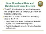 state broadband data and development grant program1