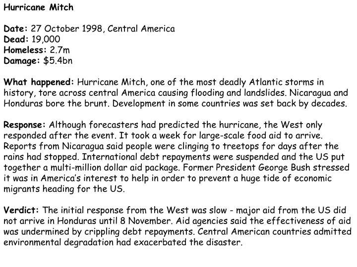 Hurricane Mitch
