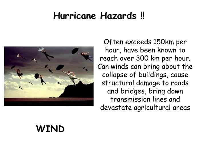 Hurricane Hazards !!