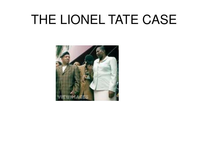 the lionel tate case n.