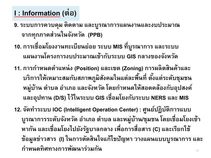 I : Information