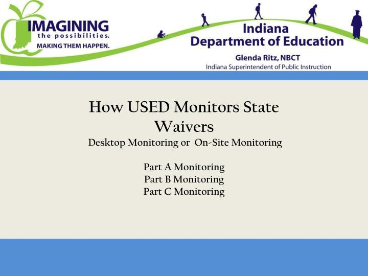 How USED Monitors State Waivers