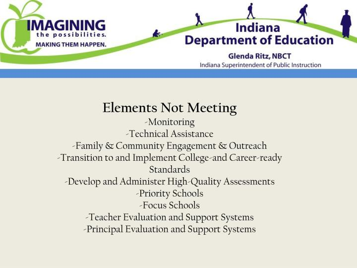 Elements Not Meeting