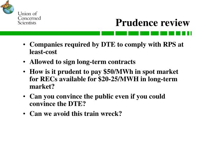 Prudence review