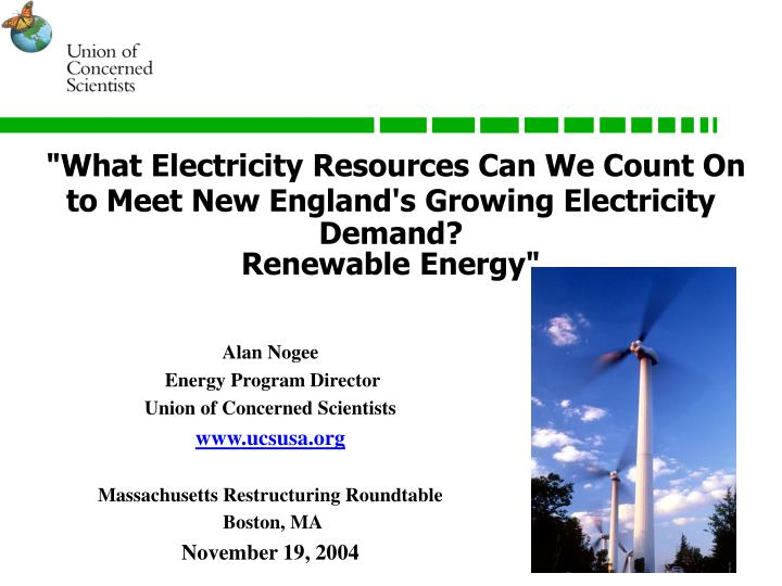 """""""What Electricity Resources Can We Count On to Meet New England's Growing Electricity Demand?"""