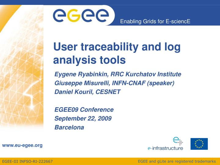 user traceability and log analysis tools n.