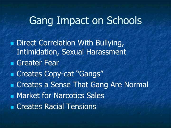 Gang Impact on Schools
