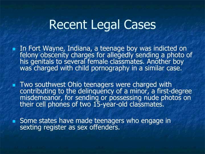 Recent Legal Cases