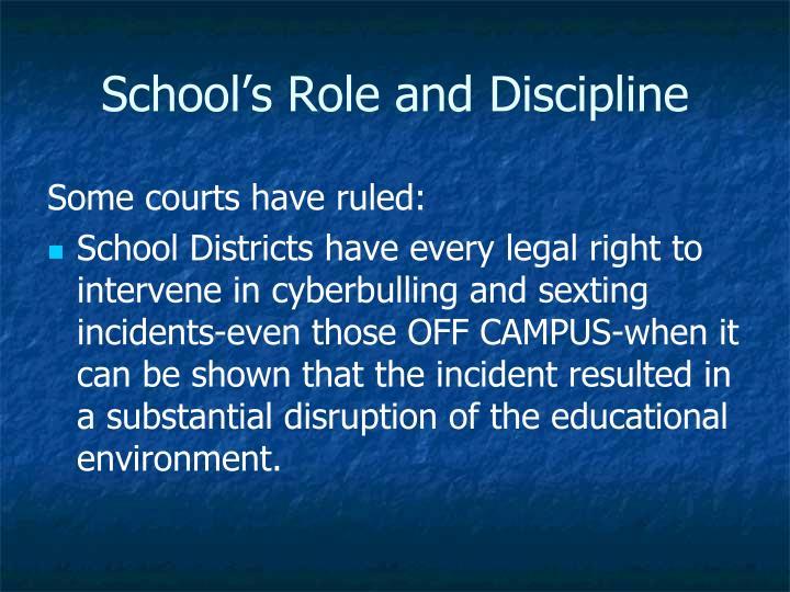 School's Role and Discipline