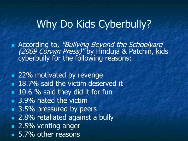 Why Do Kids Cyberbully?