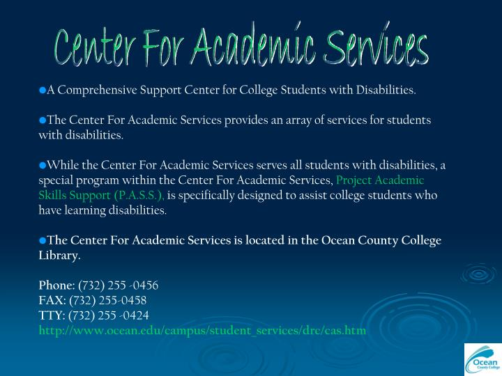 Center For Academic Services
