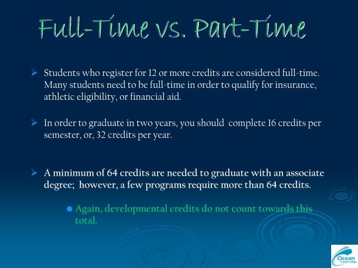 Full-Time vs. Part-Time