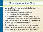 the value of the firm