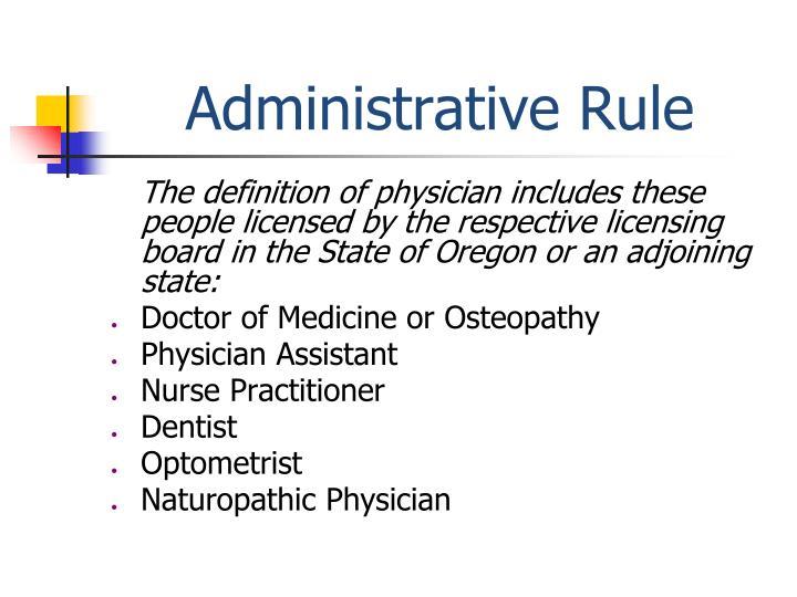 Administrative Rule