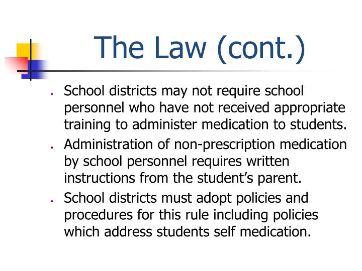 The law cont