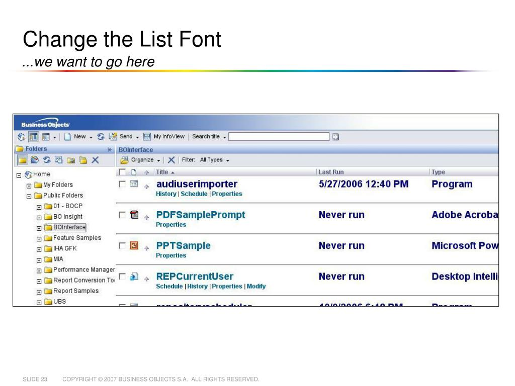 PPT - Changing InfoView without Changing InfoView PowerPoint