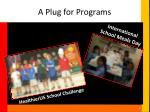 a plug for programs