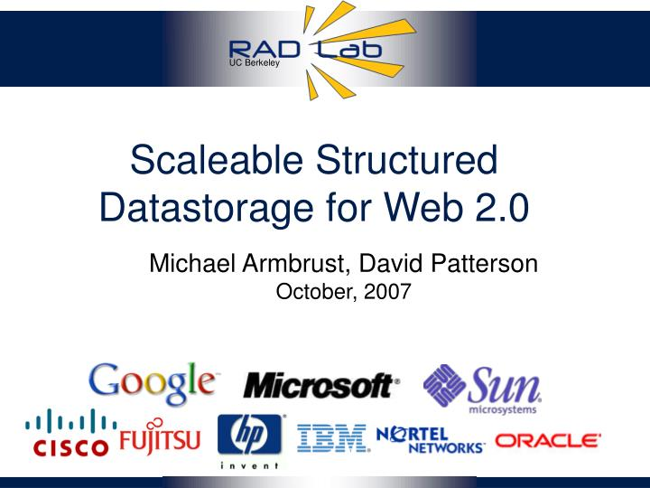 scaleable structured datastorage for web 2 0 n.