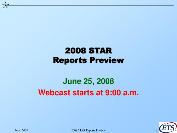 2008 star reports preview n.