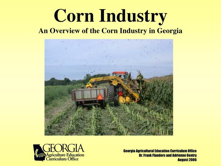 corn industry an overview of the corn industry in georgia n.