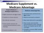 medicare supplement vs medicare advantage