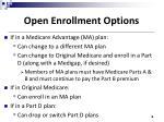 open enrollment options