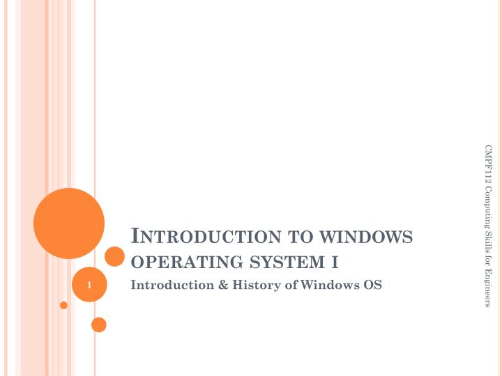 introduction to windows operating system i n.
