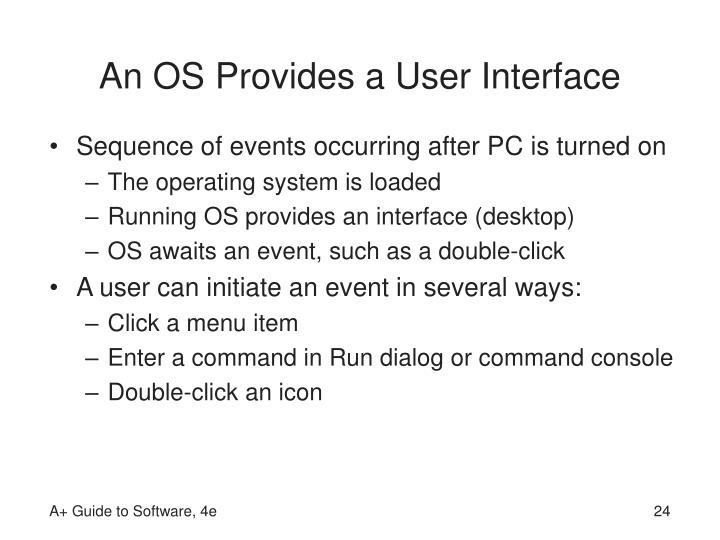 An OS Provides a User Interface