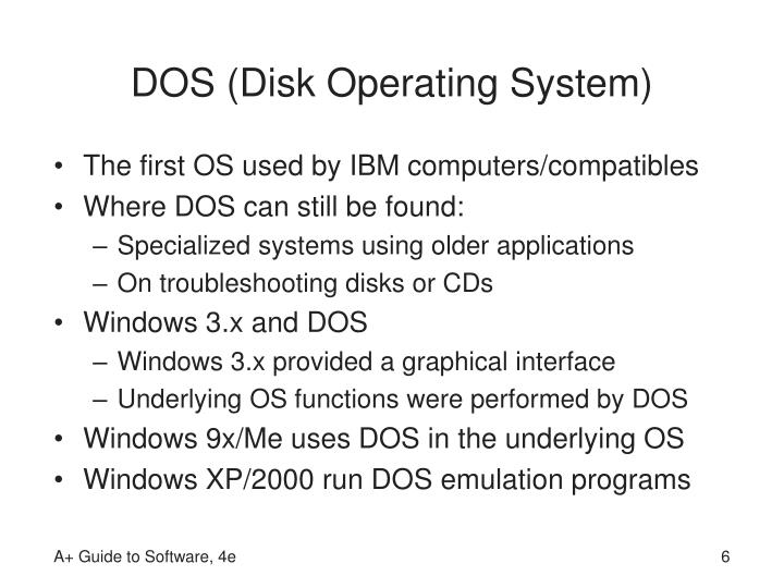 DOS (Disk Operating System)