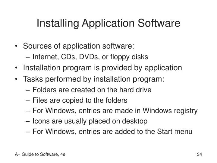 Installing Application Software
