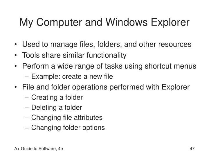 My Computer and Windows Explorer