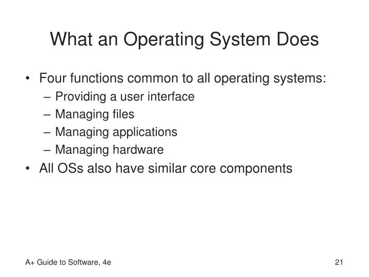 What an Operating System Does