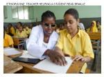 ethiopia sne teacher helping a student read braille