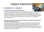 impact statements