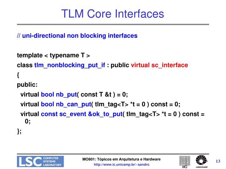 TLM Core Interfaces