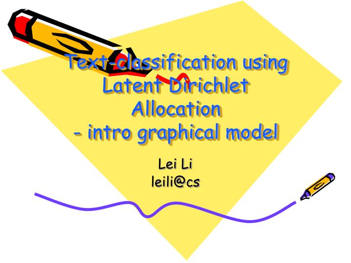 text classification using latent dirichlet allocation intro graphical model n.