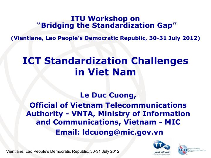 ict standardization challenges in viet nam n.