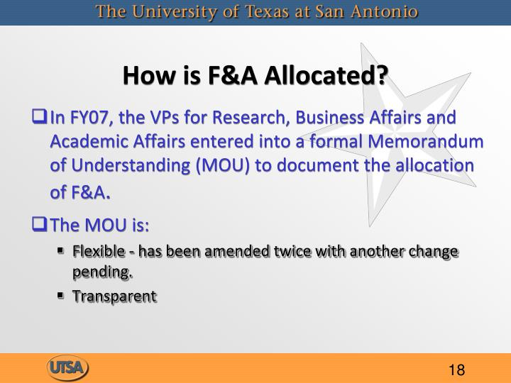 How is F&A Allocated?