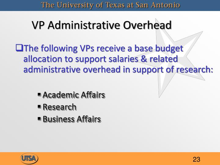 VP Administrative Overhead